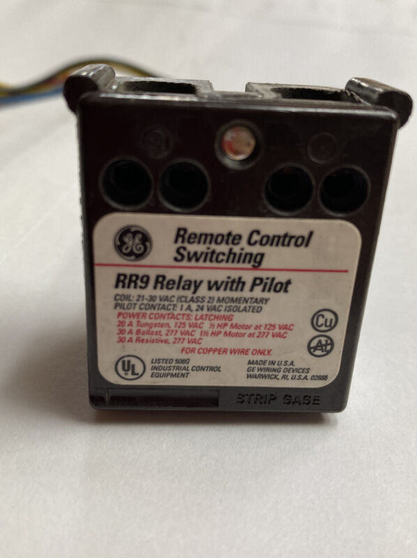 General Electric GE RR9P Remote Control Relay With Pilot Long Leads