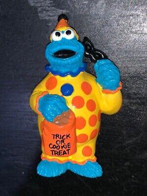 Vintage Sesame Street Cookie Monster Halloween Clown PVC Toy Figure Muppets