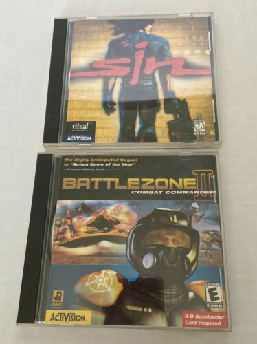 Computer Games - 1990's Pc Computer Games Action Lot Sin & Battlezone 2 Free Shipping