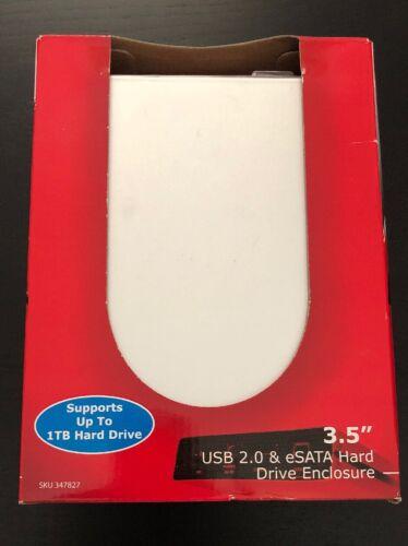 """CompUSA 3.5"""" External Hard Drive Enclosure USB 2.0 & ESATA -"""