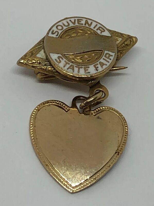 Vintage 1940's STATE FAIR Souvenir Lapel Pin