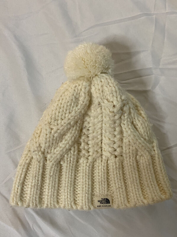 The North Face Youth Baby Beanie Fleece Hat Kids One Size Cream Fast Ship