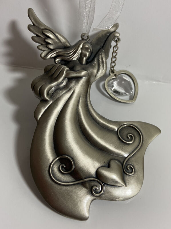 Dream Angel Jeweled Pewter Suncatcher Ornament NIB