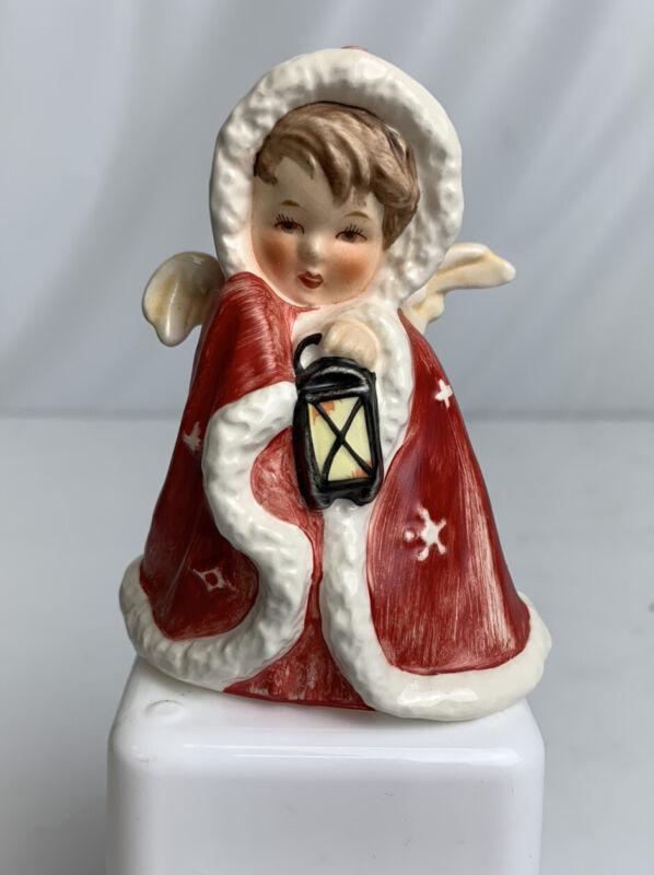 Vintage Goebel Robson Christmas Angel Candleholder Red Robe 1958 West Germany