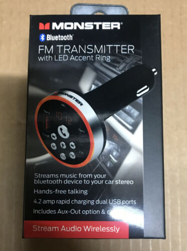 Monster Bluetooth FM Transmitter with Multicolor LED Accent