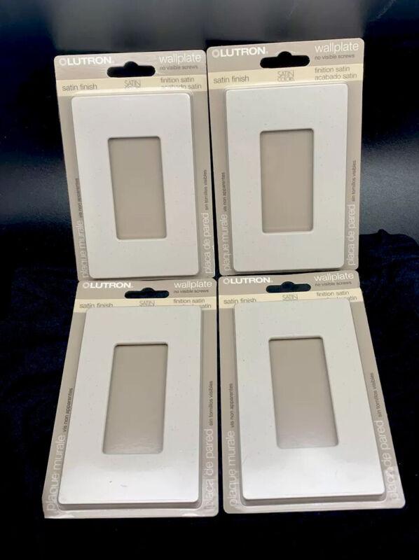 Lutron 1 Gang Decorator Wallplate SC-1-AT Stone Finish 4 Pack NO VISIBLE SCREWS