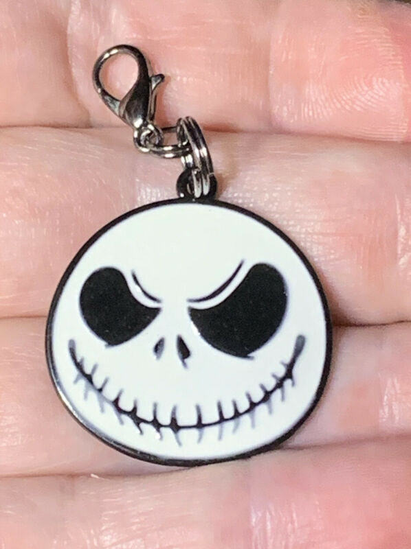 Black Jack Skellington Nightmare Before Xmas Charm Zipper Pull & Keychain Add On