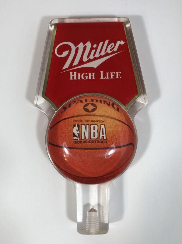 Miller High Life NBA Basketball Beer Tap Handle