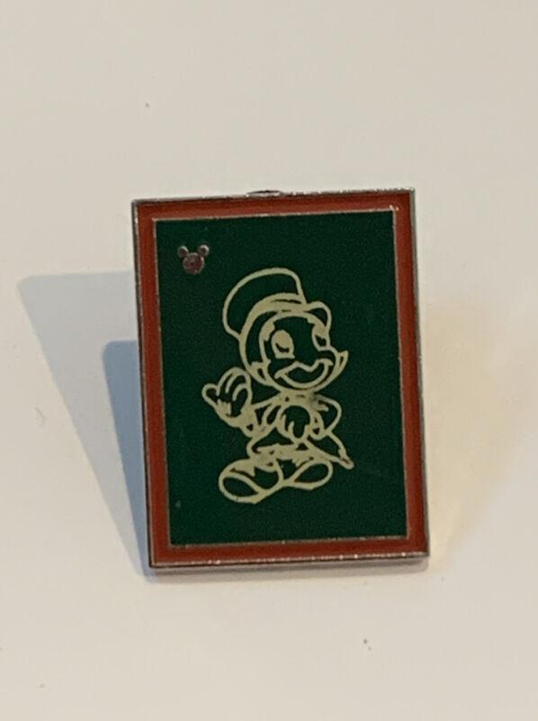Disney Pin Trading Hidden Mickey Pin Pinocchio Jiminy Cricket Green Sketch Frame