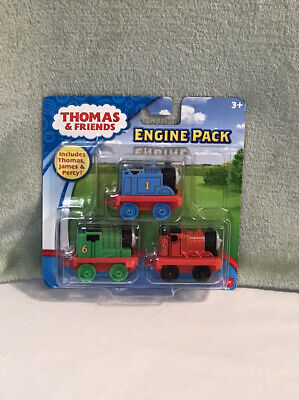Thomas the Train Fisher Price 3 Pack Engines Percy Thomas James NEW