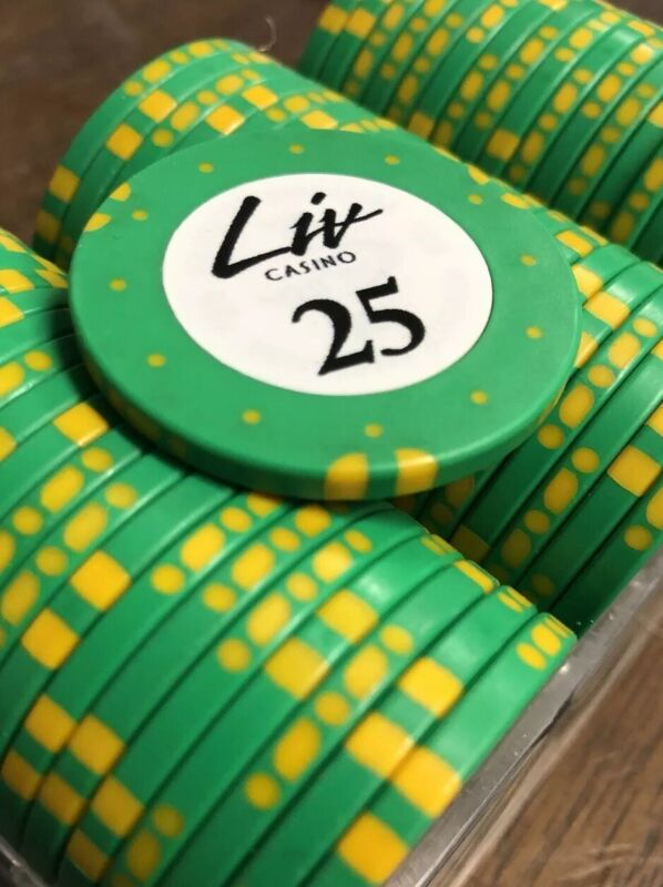 100 $25 LIV Casino Chips Gemaco