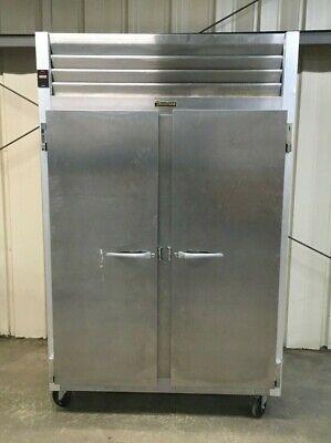 Traulsen G22010 Two Section Solid Door Reach-in Freezer 52 Width.