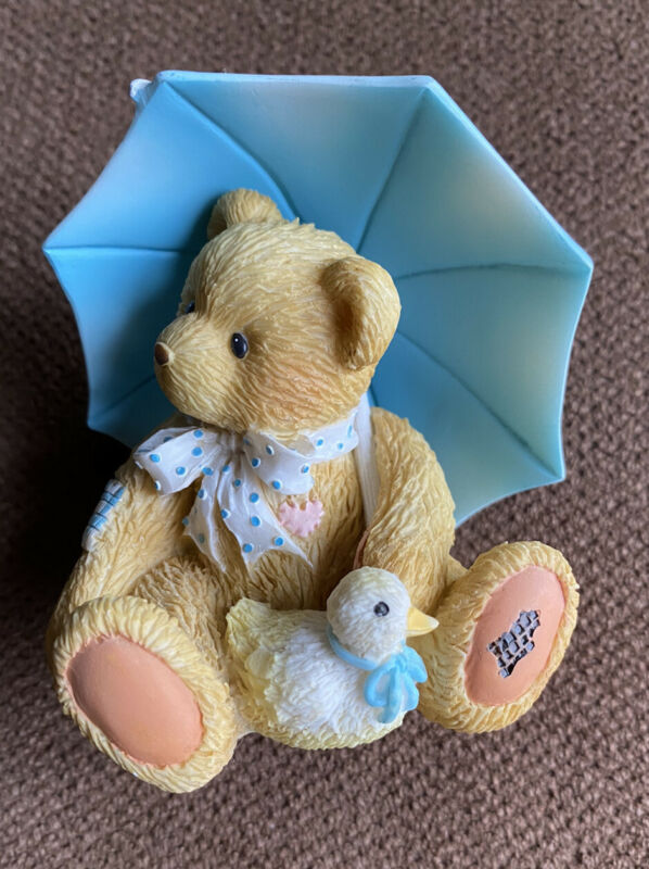 Rare Cherished Teddies ALAN APRIL 1993 Enesco P Hillman Bear Cub Figurine