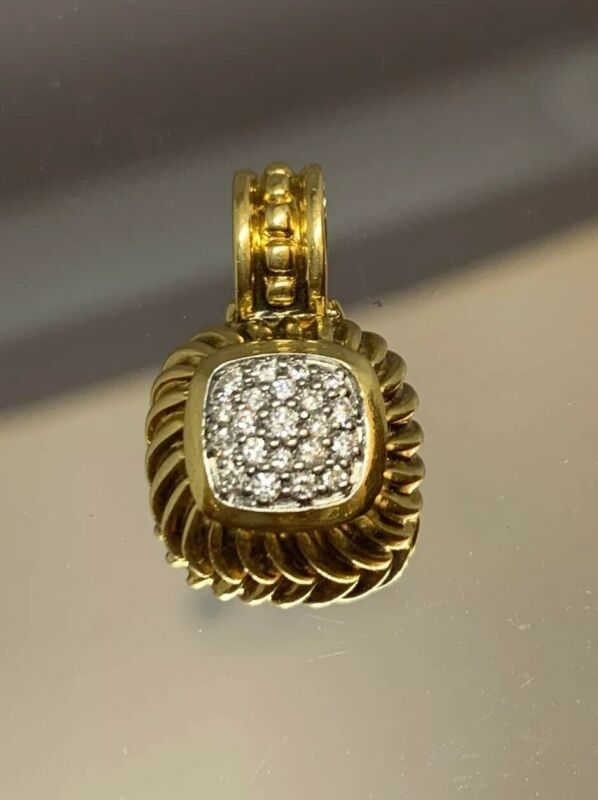 David Yurman 18k Gold And Diamond Albion Pendant Enhancer Diamond Dy Enhancer