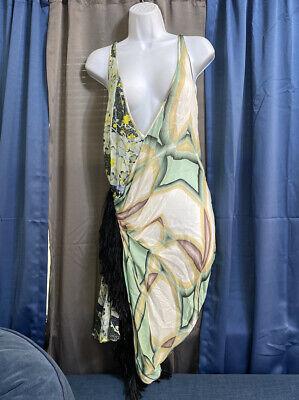 JUST CAVALLI silk asymmetrical tunic mini dress a IT 40 US 4