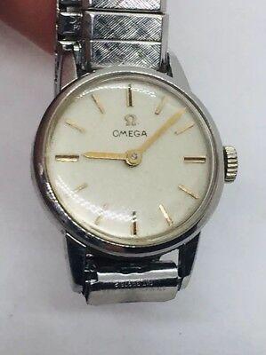 Omega Vintage Manual Wind Stainless Steel 17 Jewels Cal. 620 Ladies Watch