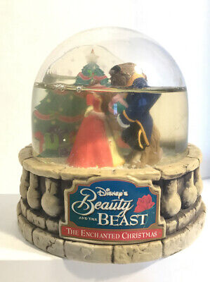 Disney's Beauty & The Beast:The Enchanted Christmas Snow Globe Ocean Spray 1997