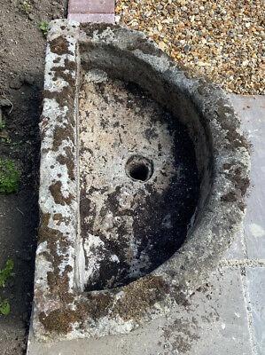 Large Antique Stone Sink Trough, Garden Planter