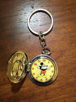Disney Parks Mickey Mouse Keychain Vintage Pocket Watch Design