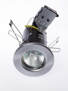 75% OFF RRP 10 X GU10 MAINS FIRE RATED FIXED & TILT RECESSED DOWNLIGHT SPOTLIGHT