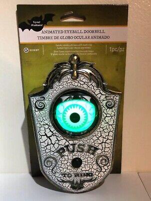 Animated Doorbell Eyeball Halloween Prop Haunted House Decor Scary 6.89 Inch