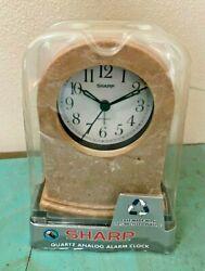 Sharp SPCH201 Quartz Analog Alarm Clock Eco-Friendly Glass Lens NEW