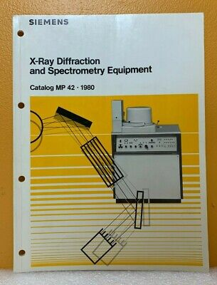 Siemens 1980 X-ray Diffraction And Spectrometry Equipment Catalog Mp 42.