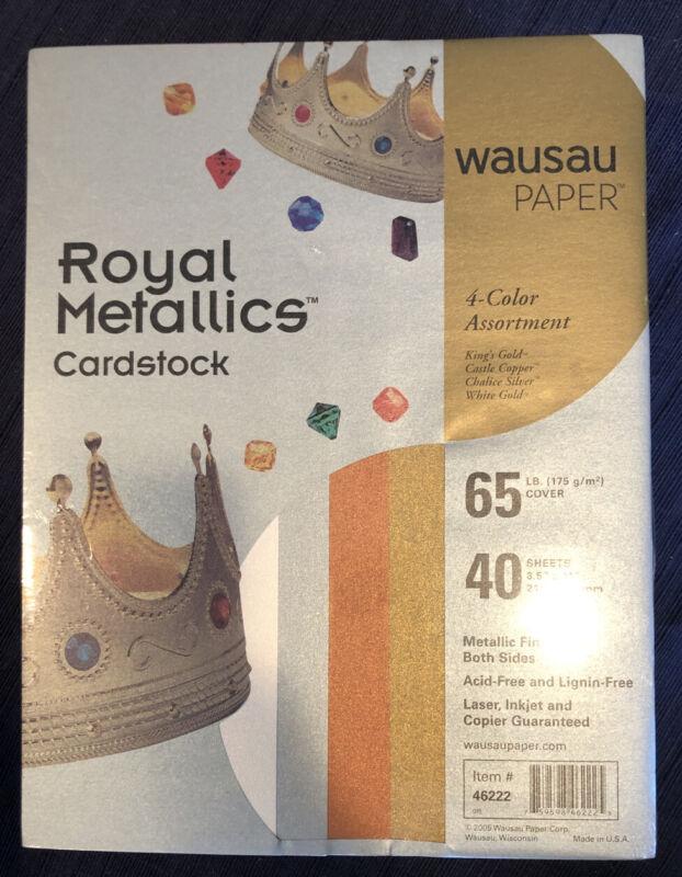 New Wausau Paper Royal Metallics Cardstock 65# 40 Sheets