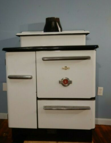 Antique McClary Wood & Coal Cook Stove w/ Oven & Water Heater Cabin Sized
