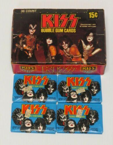 KISS DONRUSS SERIES I BOX + 4 SEALED PACKS 1977 AUCOIN