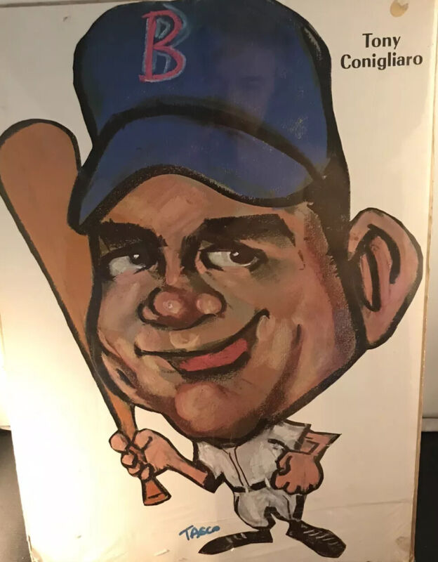 1969 Tony Conigliaro Caricature  By TASCO In Package Boston Red Sox Ex