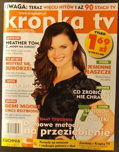 "HEATHER TOM mag.FRONT cover,Bold and the Beautiful, Paris Hilton,""Contagion"" - europe, Polska - Zwroty są przyjmowane - europe, Polska"