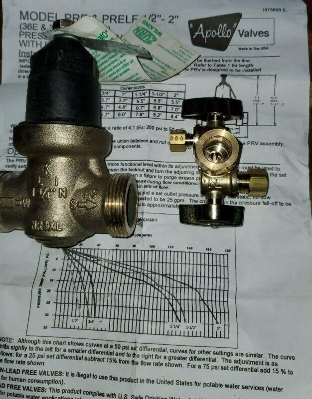 Apollo Valve Pressure Reducer LF BRZ 3/4