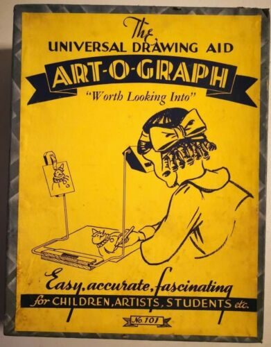 1940s The Universal Drawing Aid art-o-graph Model No.101 by plaza manufacturing