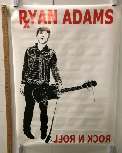 "VINTAGE MUSIC POSTER Ryan Adams ""Rock N Roll"" Classic Grunge American Punk"