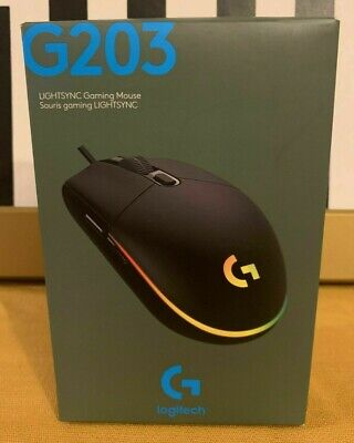 Logitech - G203 - Black - Lightsync Gaming Mouse - BRAND NEW, FACTORY SEALED !!!