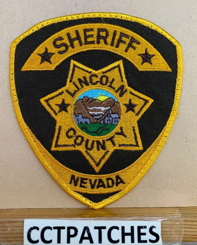 LINCOLN COUNTY, NEVADA SHERIFF (POLICE) SHOULDER PATCH NV