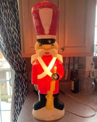 RARE Vtg Empire Carolina Enterprises Blow Mold Christmas Toy Soldier with Gun