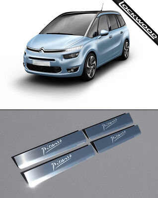 Citroen C4 Grand Picasso (Released 2013) Stainless Sill Protectors / Kick Plates