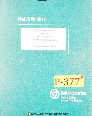 Pratt Whitney Model C Machines Parts Lists Manual 1965 Tape O Matic Drilling