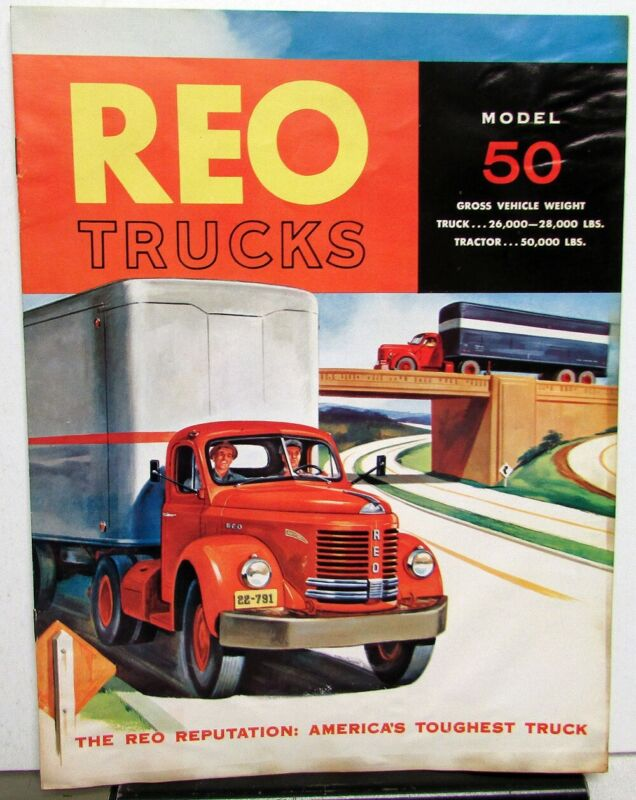 1953 REO Truck Model 50 Sales Brochure With Brief Specification