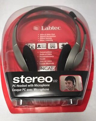 Labtec Headset Stereo 332 PC Computer Headset with Microphone Voice videochat for sale  Cincinnati
