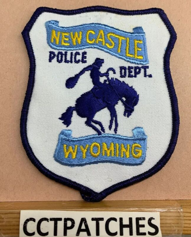 NEW CASTLE, WYOMING POLICE SHOULDER PATCH WY