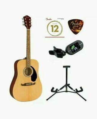 Fender FA-125 Dreadnought Acoustic Guitar Natural With Bonus Accessories