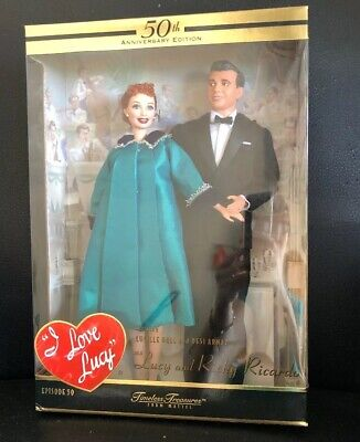 I Love Lucy Is Enceinte Lucille And Desi Barbie Collector Dolls Ricky Ricardo - Lucy And Ricky Ricardo