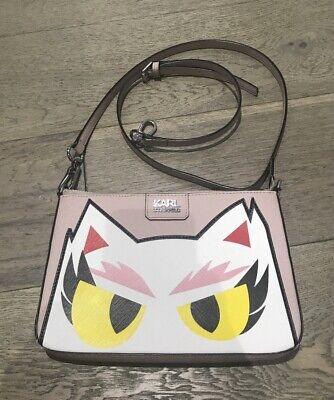 Karl Lagerfeld Light Pink Shoulder Bag Cat Choupette