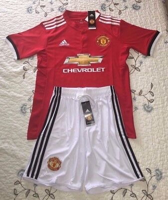 Manchester United Adidas 2017 2018 Soccer W  Jersey Short Us Seller   Adult Size