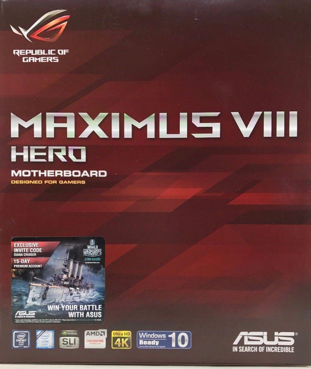 Asus Rog Maximus Viii Hero Lga1151 Ddr4 M.2 Sata 6gbs Usb 3.1 Motherboard