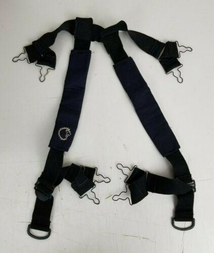Black Turnout Padded Suspenders Lion