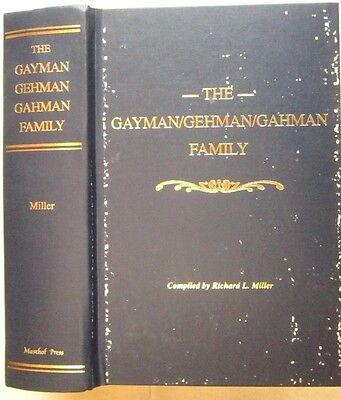 Gayman Gehman Gahman Family History Genealogy Cumberland County PA reference